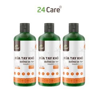 [KHÁNG KHUẨN] Bộ 3 Nước rửa tay khô tinh dầu Cam 24Care 100ML không cần rửa lại với nước, diệt khuẩn 99,9% thumbnail