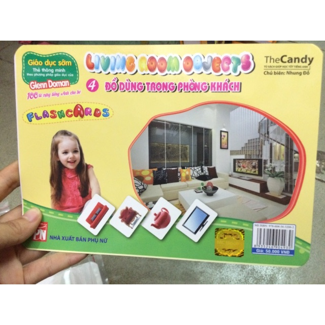 Thẻ Flash card-Đồ dùng trong phòng khách