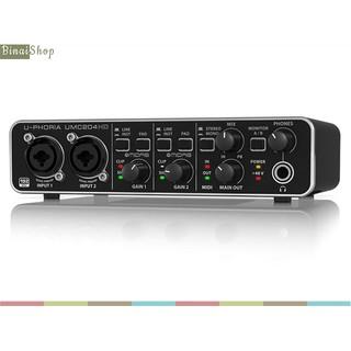 Sound card thu âm 2in 4out Behringer U-PHORIA UMC204HD