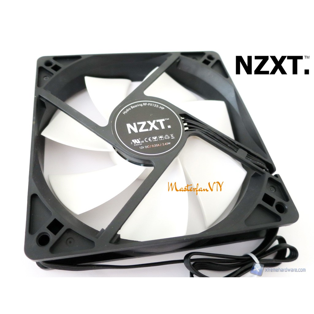Quạt tản nhiệt 12cm NZXT RF-FX122HP 4pin tốc 2000rpm NEW - Hiệu năng cực cao, chống ồn