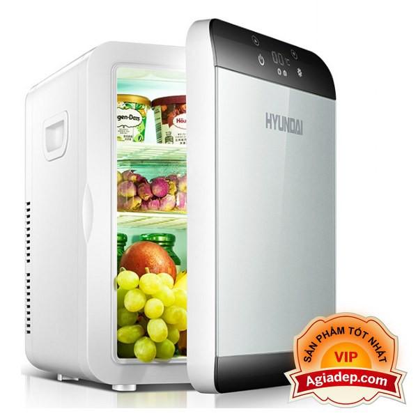 Tủ lạnh, tủ mát mini Xe hơi Hyundai (Cắm được cả trong nhà hoặc oto) Mặt LED điện tử (Đa năng) Agiadep.com - 13.5 Lít