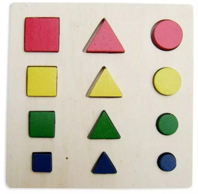 Giáo Cụ Montessori 8 Món Bằng Gỗ Cho Bé Phát Triển Trí Não