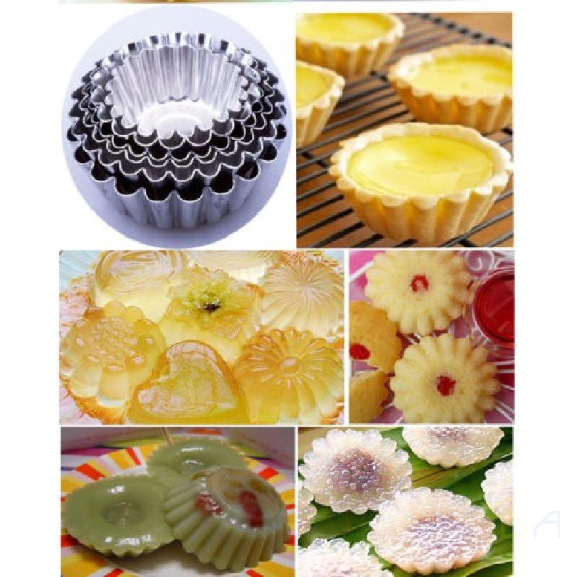 10 ชิ้น ล็อตทาร์ตไข่แม่พิมพ์เค้กคัพเค้ก  Liner เบเกอรี่รอบถ้วยแม่พิมพ์ขนมเครื่องมือ 545