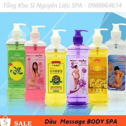 Dầu Massage Body Dùng Trong Spa Chai Trắng