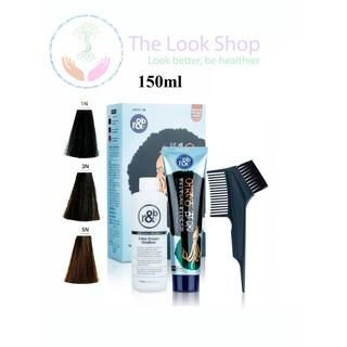 Kem nhuộm tóc Hàn Quốc Henna và tinh chất mực biển R&B- Phủ bạc, nhuộm tóc đen tự nhiên trong 10 phút thumbnail