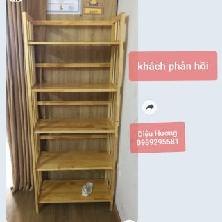 kệ gỗ giá sách 5 tầng – 60 cm bằng gỗ cao su tự nhiên