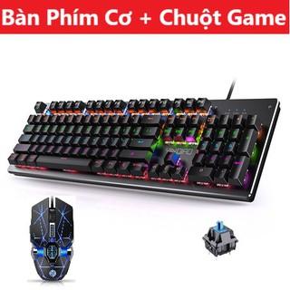 Bộ Bàn Phím Cơ H650 Và Chuột Gaming V8 Led Đổi Màu, Phím Có 10 Chế Độ Led Đặc Biệt Gõ Siêu Thích thumbnail