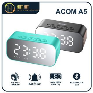 Loa Bluetooth ACOME A5 Màn hình LED, Kiêm Đồng Hồ Báo Thức, Công Suât 5W, Thiết Kế Tinh Tế Dung Lượng Pin Siêu Trâu