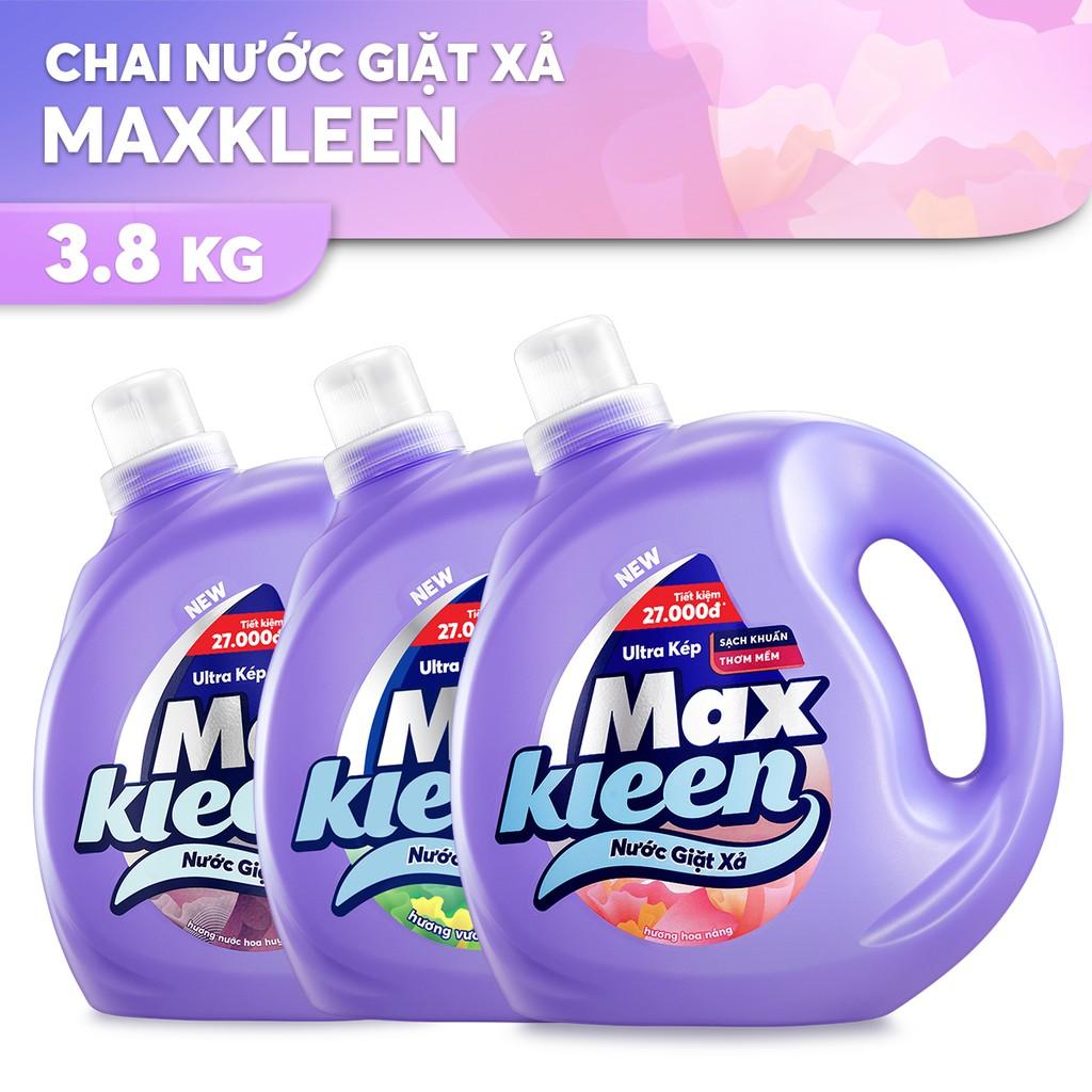Chai Nước Giặt Xả Maxkleen 3.8kg (MỚI)