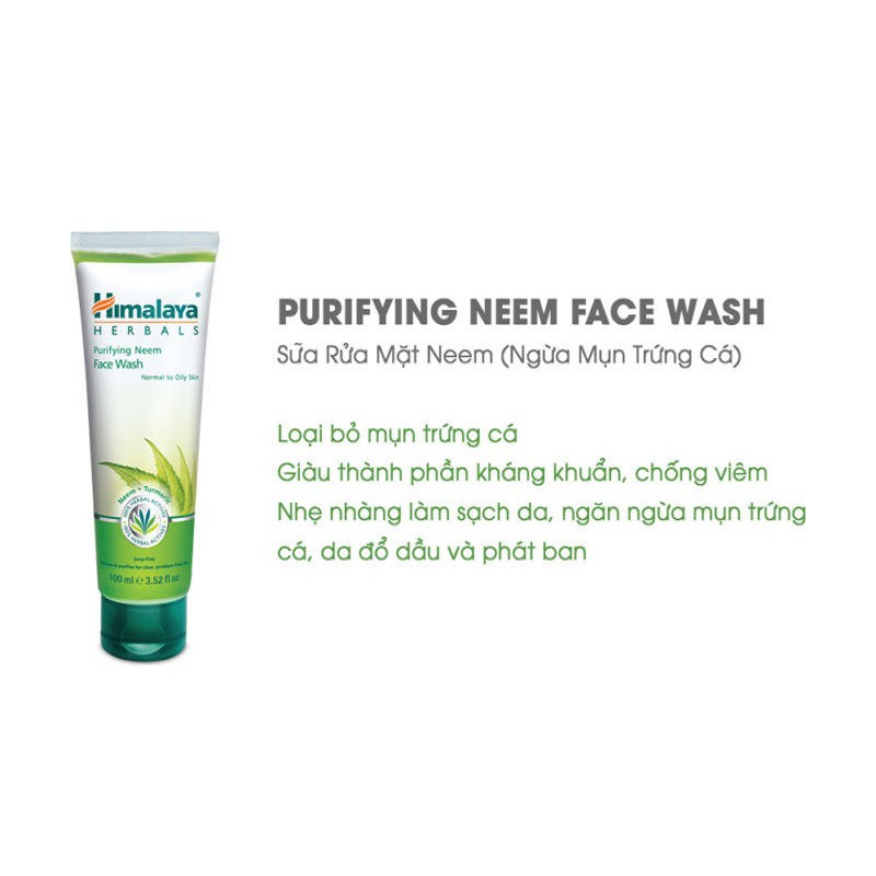 Hình ảnh Combo diệt sạch mụn Himalaya Neem Travel Kit Neem Face Wash 15ml + Neem Face Pack 15ml-3