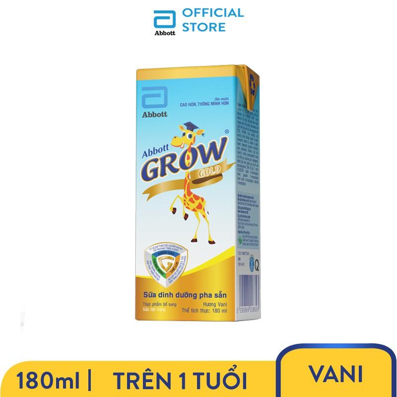 [Tặng áo choàng huơu] Thùng 48 hộp Sữa nước Abbott Grow Gold 180ml/hộp