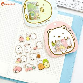 HAPPY 50pcs PVC Gifts Notepad DIY Sticker Sticker Waterproof Lovely Animal Sticker Diary Book