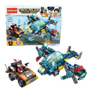 Bộ đồ chơi lắp ráp trẻ em Đặc vụ cảnh sát viễn tưởng Lele Brother 8599-4 (4 loại)