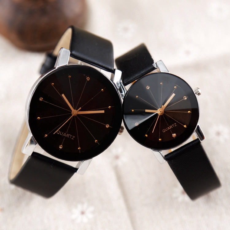 Fashion Foreign Trade Couple Convex Belt Watch