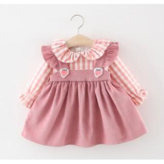 Váy thu đông bé gái - váy thu đông cho bé gái dài tay cổ sen xinh xắn hàng Quảng Châu cao cấp