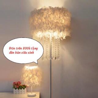 (Sẵn) Đèn lông vũ siêu đẹp mê ly, đèn sàn phòng khách phòng ngủ phong cách Bắc Âu