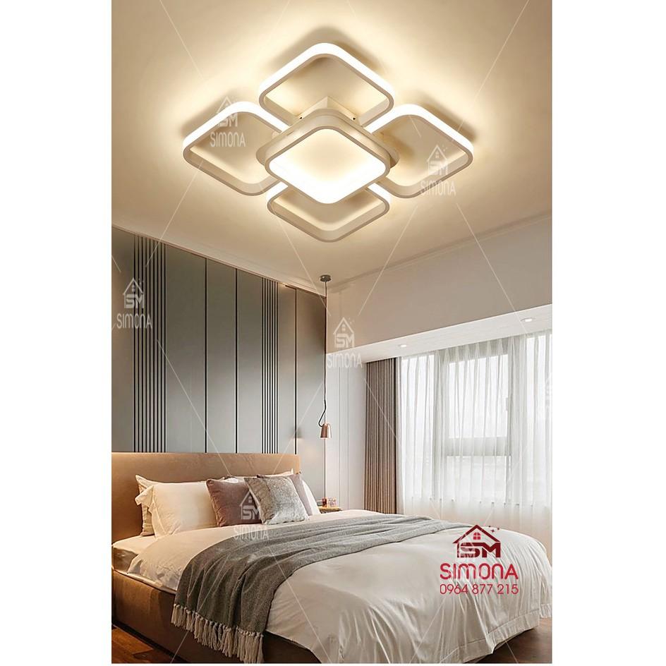 Đèn trần LED - đèn ốp trần - đèn trần trang trí 5 cánh vuông hiện đại DM 101 5 CÁNH