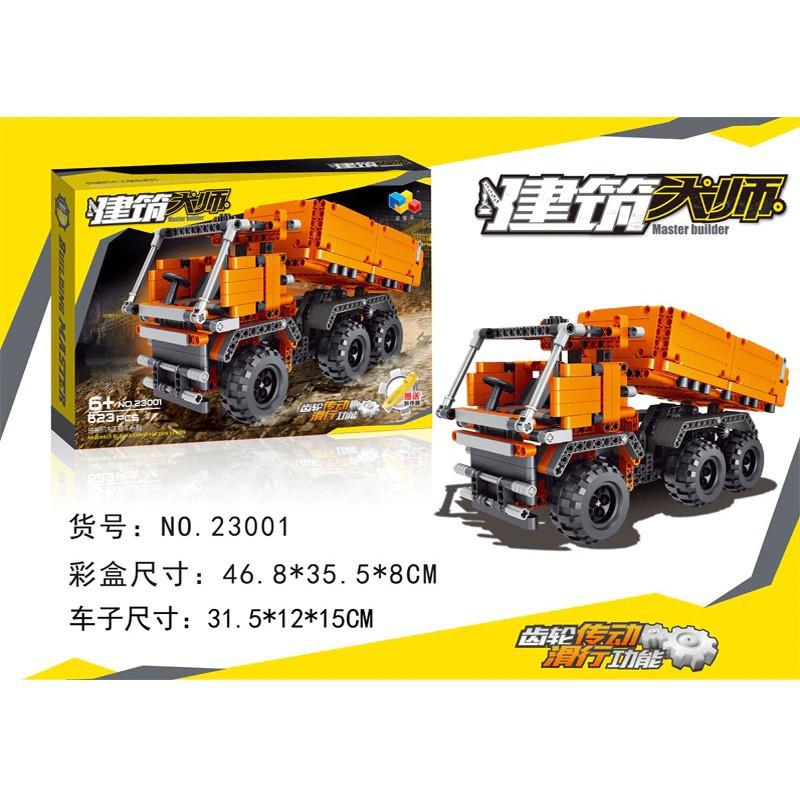 Lắp ráp Master Builder 23001 – Xe tải xây dựng chở gạch 623 mảnh