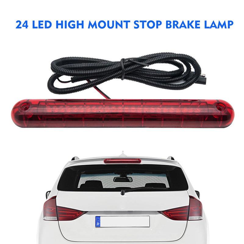 ❤24 LED 12V Universal Car High Mount Third 3RD Brake Stop Tail Light Lamp