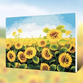 """Tranh sơn dầu KTS cho bé sáng tạo """"Hoa hướng dương"""""""