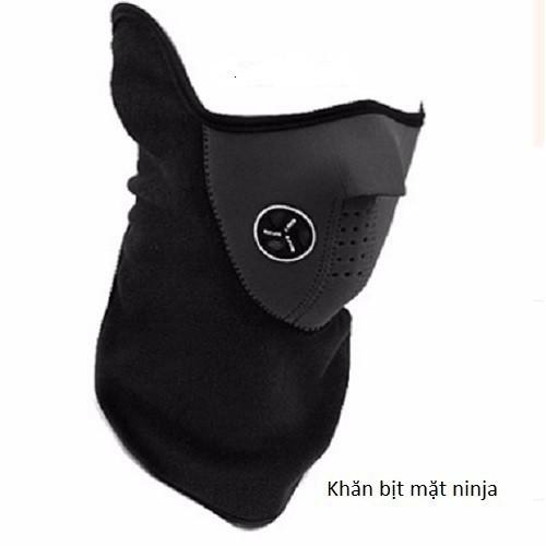 (Rẻ Vô Địch)Khẩu trang Ninja trùm cổ - đồ phượt - chất nỉ ( có lỗ thoáng ở mũi)