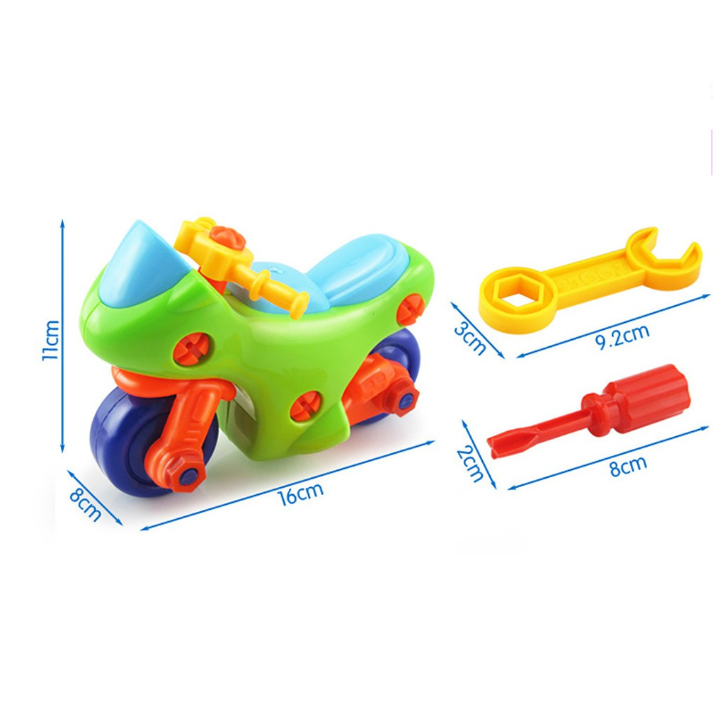 Disassembly Assembly Nut With Assemble Screw Driver Classic Toy