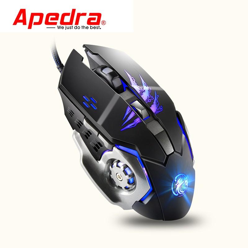 Mouse Gaming APEDRA A8 Dây dù - Led 7 màu
