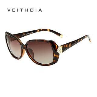 Phụ kiện thời trang VEITHDIA 7011 Kính râm phân cực thiết kế vòng cung kim cương cao cấp dành cho nữ