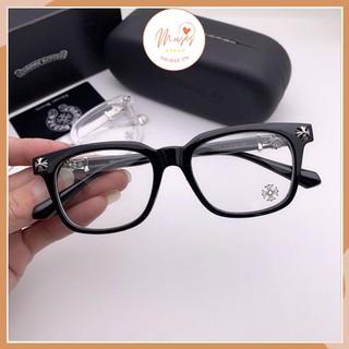 Gọng kính cận nam nữ Chrome Hearts 2273 thiết kế mắt vuông họa tiết kim loại cao cấp