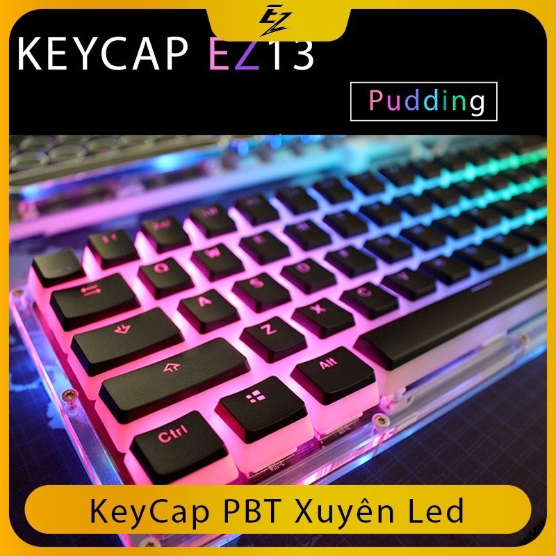 KEYCAP XUYÊN LED BY EZPC [ Rainbow Full hồng ]
