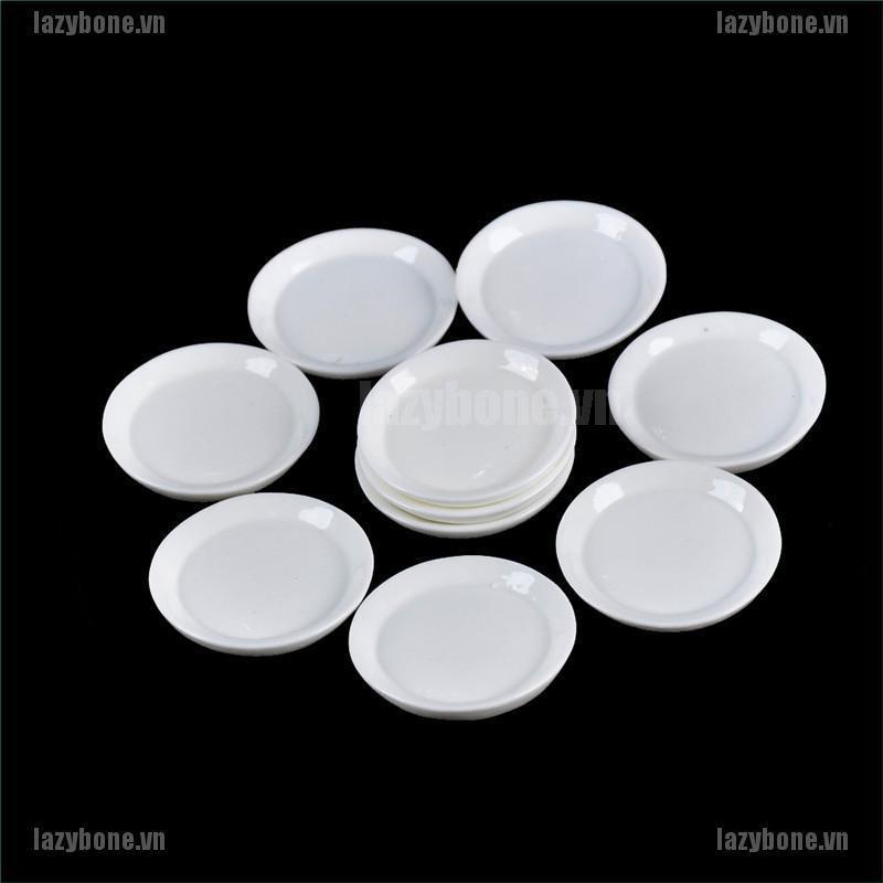 Bộ 10 mô hình đĩa thức ăn trang trí nhà búp bê thiết kế độc đáo tiện lợi