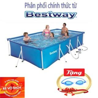 Bể Bơi Khung Kim Loại 4m x 2m x 0.81m , tặng bơm lọc nước – Bestway 56424 – Phân Phối Chính Thức Từ BESTWAY VIỆT NAM