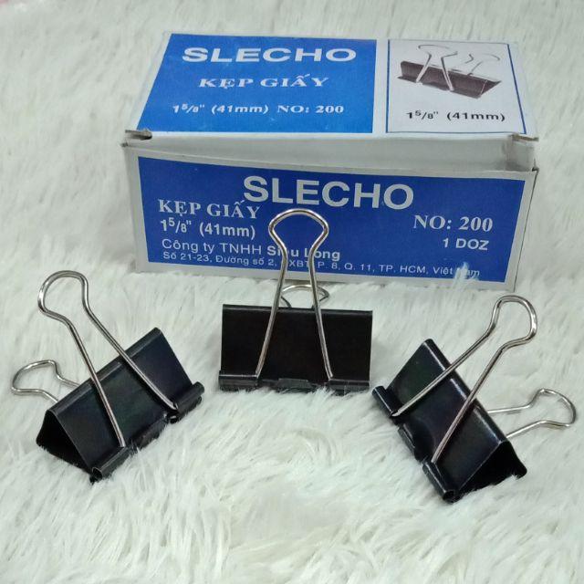 Kẹp bướm kẹp giấy SLECHO 41mm NO:200 1 DOZ - 12 cái SP000664 ...