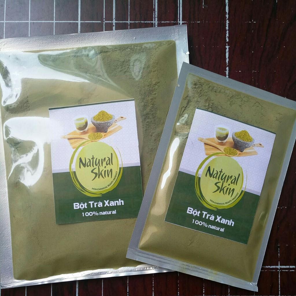 Bột Trà xanh nguyên chất Natural Skin 100g