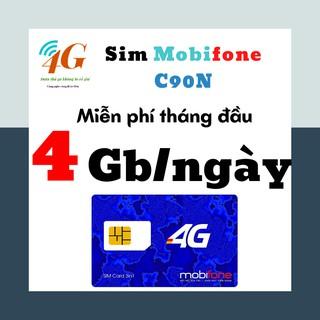 Sim 3G4G mobi C90N – 4G/ngày [CHÍNH HÃNG]/ sim data vào mạng tốc độ cao – nghe gọi không giới hạn – SIMDATA4G