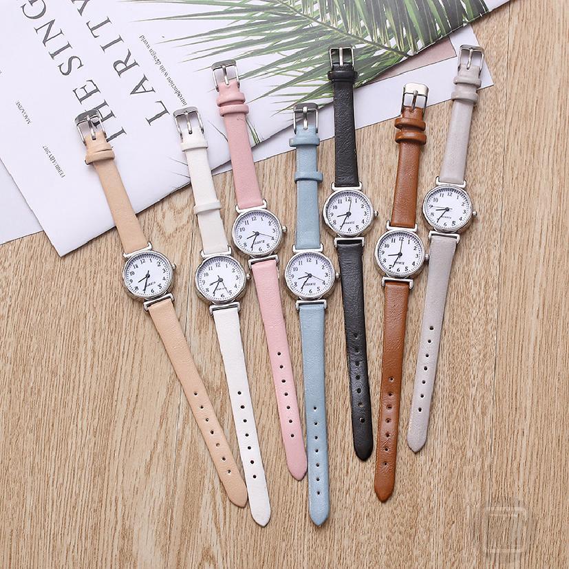 นาฬิกานักเรียนสไตล์เกาหลีสายเรียบง่ายและน่ารักย้อนยุคนาฬิกาคู่ 459