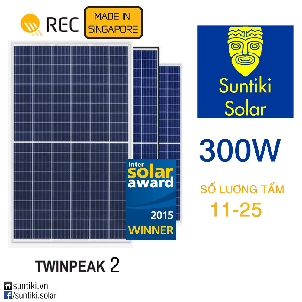 Pin năng lượng mặt trời REC (Solar Panels) 300W (11-25 tấm) - 13798869 , 1164480291 , 322_1164480291 , 4190000 , Pin-nang-luong-mat-troi-REC-Solar-Panels-300W-11-25-tam-322_1164480291 , shopee.vn , Pin năng lượng mặt trời REC (Solar Panels) 300W (11-25 tấm)