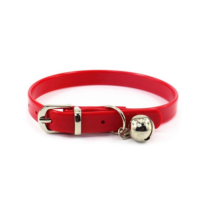 【BOBO PET】สัตว์เลี้ยงปลอกคอสุนัขปลอกคอแมวปรับพีวีซีกันน้ำสีลูกกวาดสุนัขขนาดเล็กและขนาดกลาง