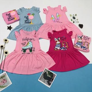 Váy Trễ Vai Bé Gái, Hàng Made In Vn, Chất Cotton Xuất Dư Đẹp, Size 1-10
