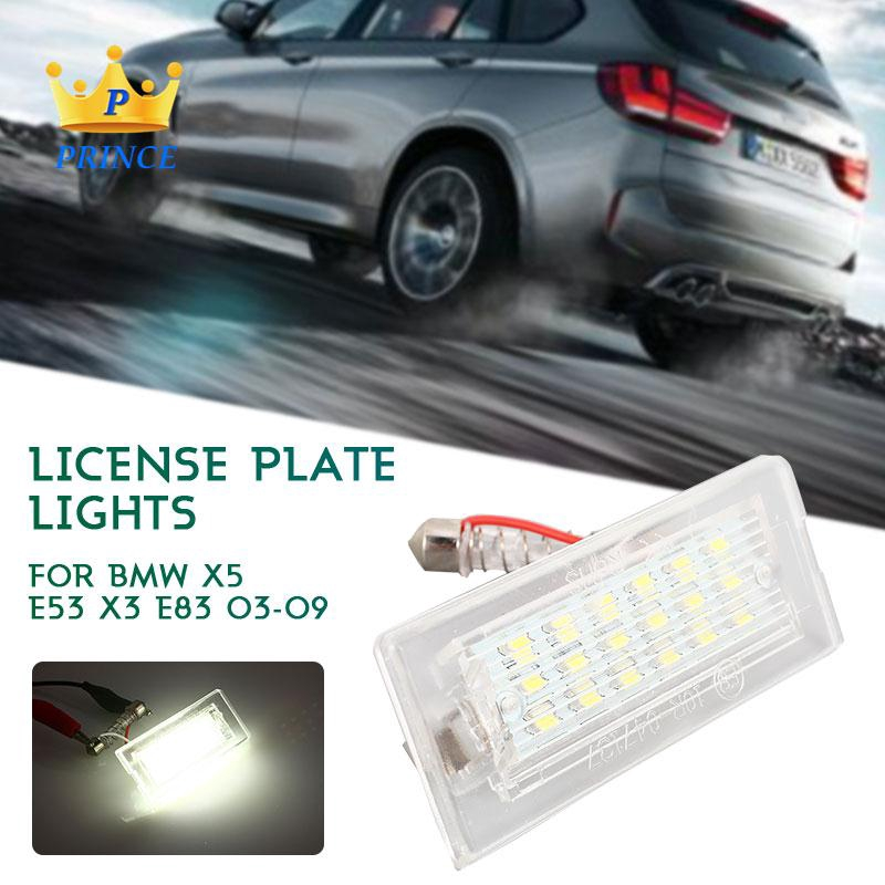 Ready Stock BMW X5 E53 X3 E83 03-09 License Plate Light 2PCS 3W Replacement Durable