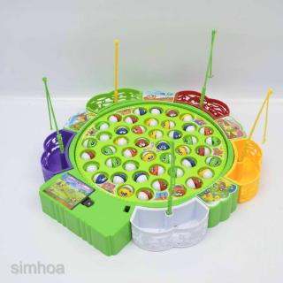 Kids Electric Musical Fishing Toy with 45 Fishes Pretend Play Game Toys
