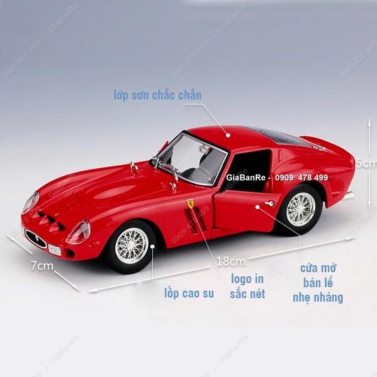 MS: 8160 – XE MÔ HÌNH SẮT TỈ LỆ 1:24 – FERRARI 250 GTO – ĐỎ