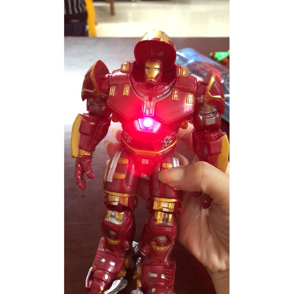 [Nhập mã TOYMAY15 giảm 15K] Mô Hình Iron Man Hulkbuster Cử Động Có Đèn Mark 44 Cao 18cm - HOT