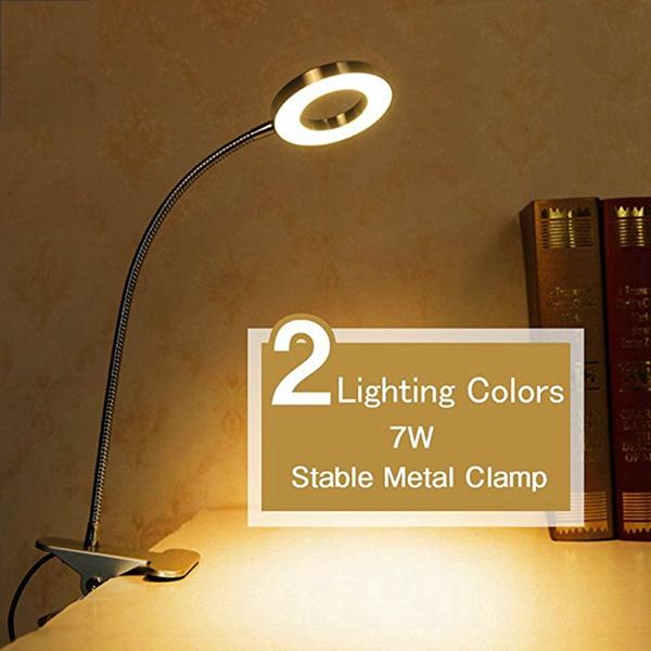 Đèn LED để bàn dạng kẹp dùng cho phòng ngủ Nhận 1 bộ sạc 1A MIỄN PHÍ