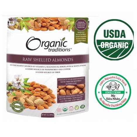 Hạnh nhân Hữu cơ Organic Traditions 200g/454g [Date 10/2020]