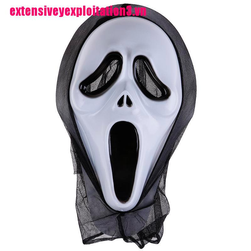 [EP&VN]Scary Scream Ghost Face Mask Fancy Bloody Dress scary Halloween Party Costume