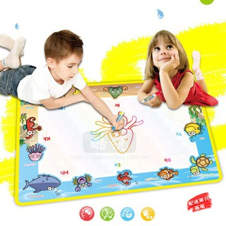 Water Drawing Mat Blanket Funny Gift Marine Organism Themed Drawing Toys