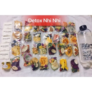 Detox Hoa quả Sấy Khô mix 3 vị (30 Gói Tặng Bình 1000ml và đường mật)