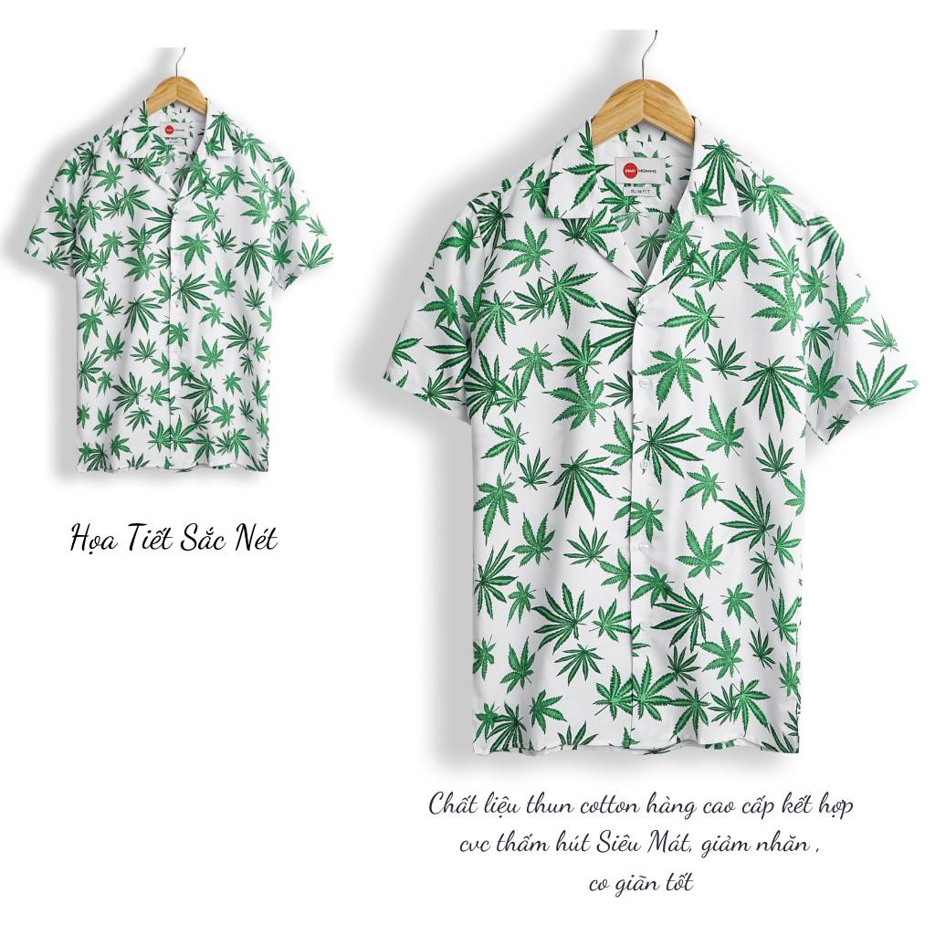 Sơ Mi Đi Biển Họa Tiết Nam Tay Ngắn ,Áo Sơ Mi Họa Tiết Hawaii, Vintage ,Hàng Cao Cấp - SMHT - GUSTA