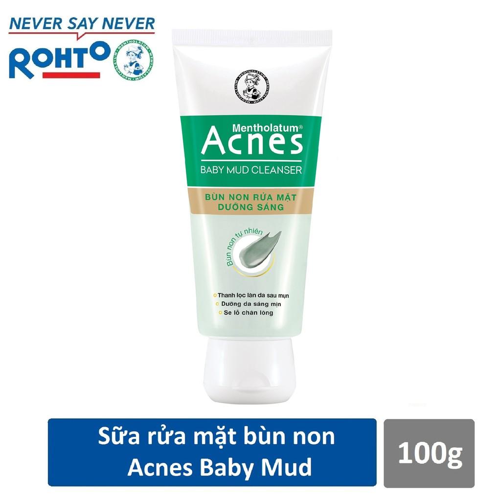 Bùn non rửa mặt dưỡng sáng Acnes Baby Mud Cleanser 100g